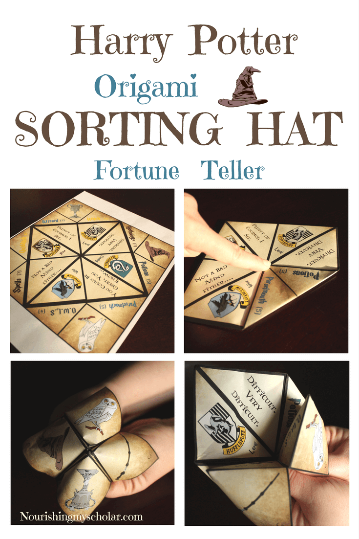 harry potter origami sorting hat fortune teller