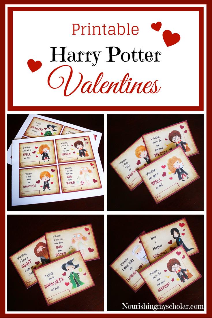 Printable Harry Potter Valentines