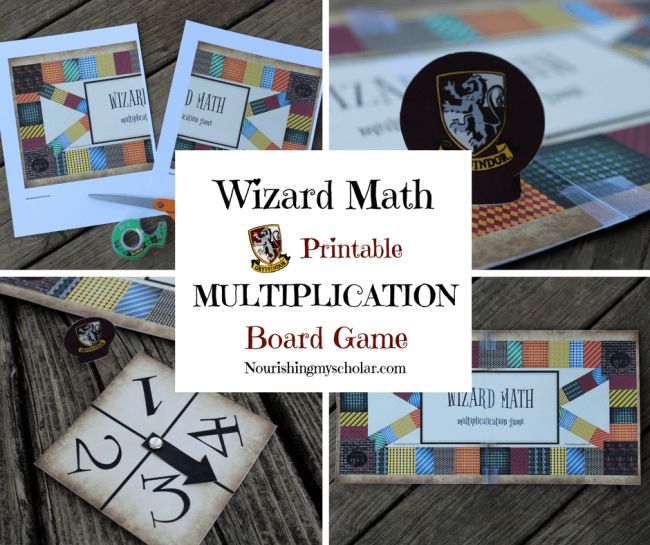 Wizard Math Printable Multiplication Board Game