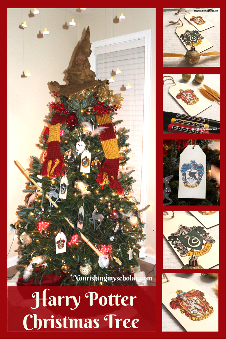 Harry Potter Christmas Tree: This Christmas we wanted to do something really special and maybe start a new tradition. I give you...the Harry Potter Christmas Tree! #HarryPotter #HarryPotterTree #HarryPotterChristmasTree #Christmas #themedtree #holidaytree
