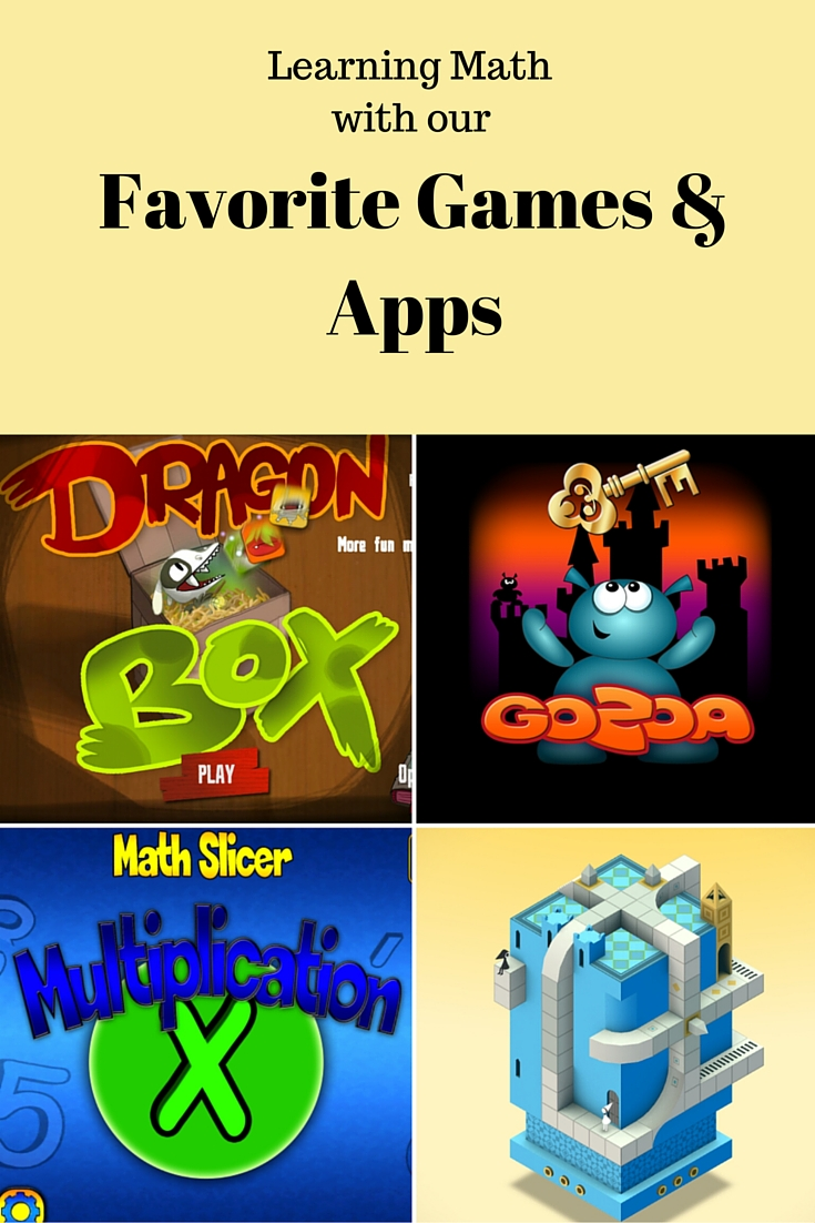 Learning Math with our Favorite Games and Apps: Games can provide a rich source of education for our children. Here are our favorite games and apps for learning math.
