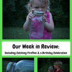 Our Week in Review: Including Catching Fireflies and a Birthday Celebration