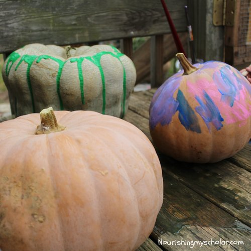 Pumpkin Painting & Halloween Picture Books