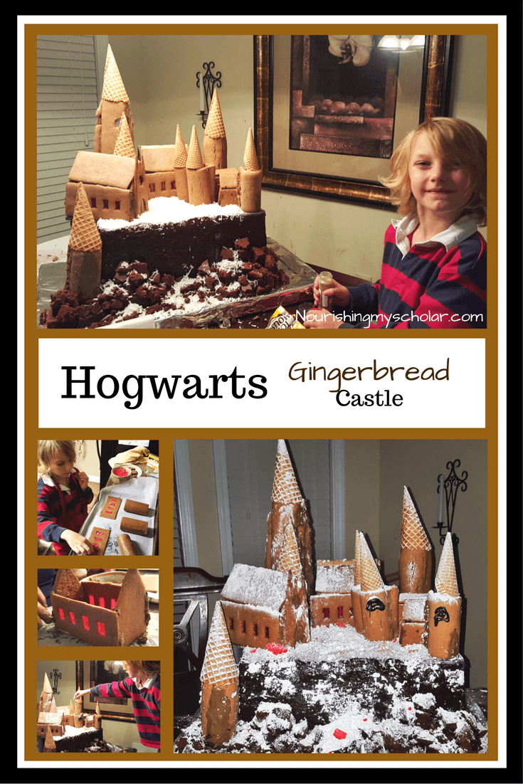 Hogwarts Gingerbread Castle: When a little boy has a love of Harry Potter, you find that he wants everything to have a Harry Potter theme. This spills over into Christmas as well! Last year we created a Harry Potter Christmas Tree and a Hogwarts Gingerbread Castle. #christmas #gingerbread #hogwartscastle #harrypotter #ihsnet