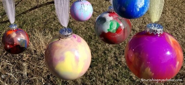 Swirl Paint Christmas Ornaments