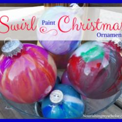 Swirl Paint Christmas Ornaments