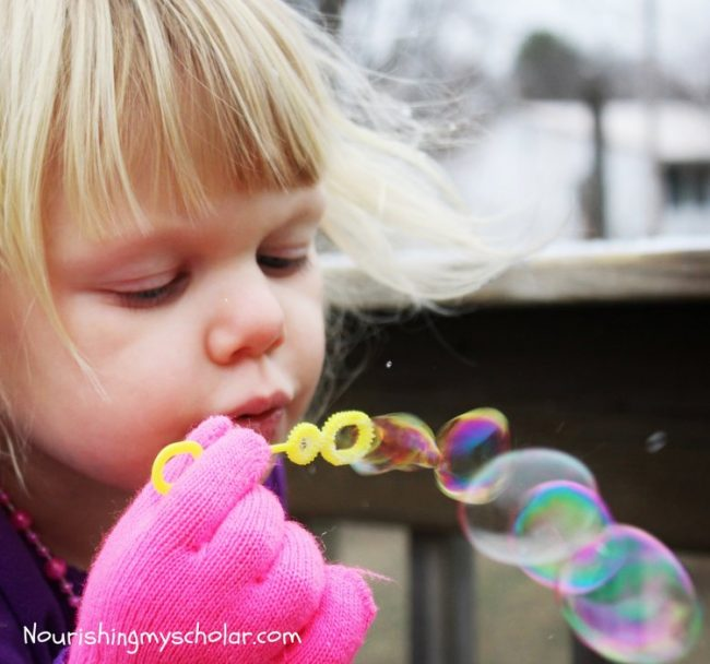 Frozen Bubble Fun for Kids and Books About Snow