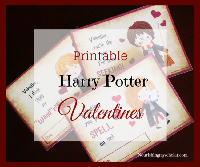 Printable Harry Potter Valentines