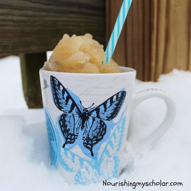 Make Maple Syrup Snow Candy