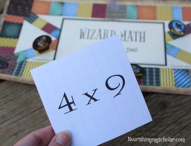 Wizard Math Printable Multiplication Board Game