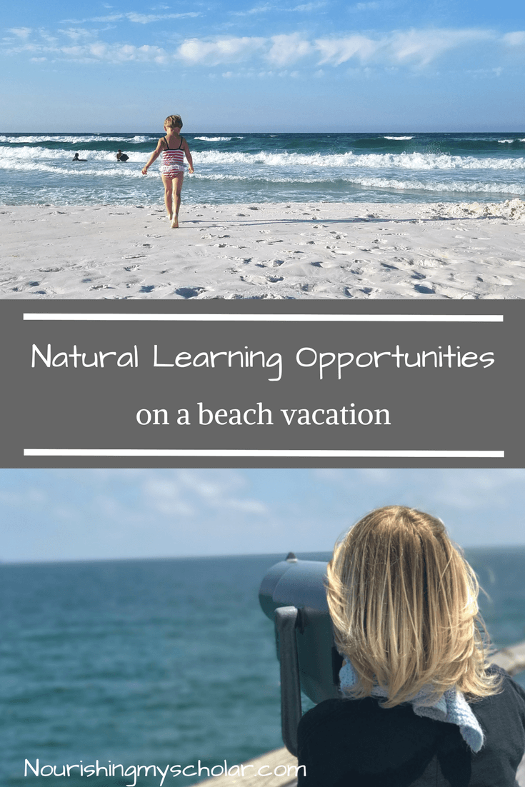 Last week our family took a marvelous beach vacation. This vacation was glorious, messy, relaxing, intense, and filled with amazing natural learning opportunities! The learning never stopped!