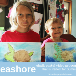 Seashore Chalk Pastel Video Art Course that is Perfect for Summer