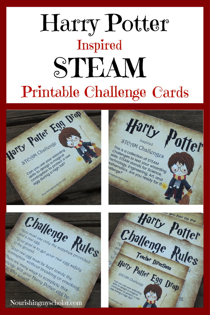 5 Days of Harry Potter Inspired Fun : Harry Potter Inspired STEAM Printable Challenge Cards