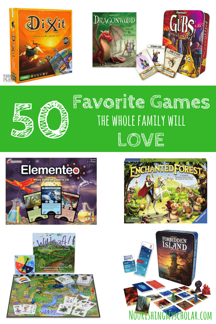 50 Favorite Games The Whole Family Will Love