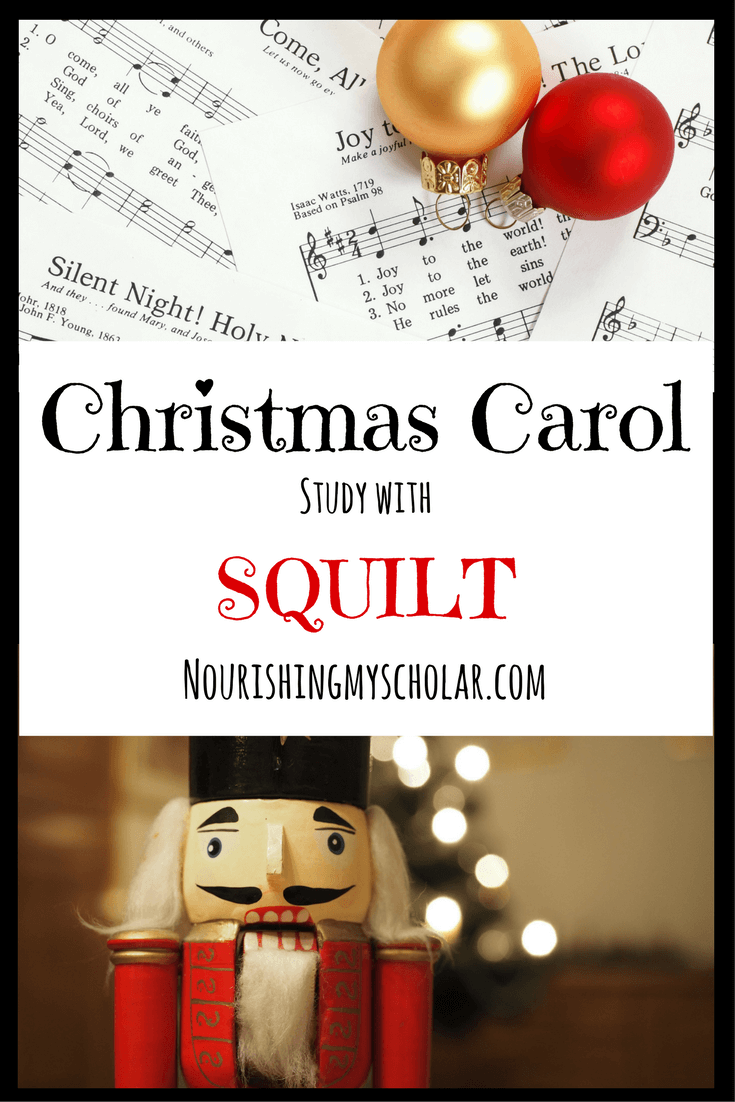 Christmas Carol Study with SQUILT: Did you know you can do an entire study on the Christmas carols you are already listening to? #homeschoolmusic #homeschool #musiccurriculum #learningmusic #music #musicappreciation  #musicforchildren #musicforkids #musicstudy #SQUILT #SQUILTlive