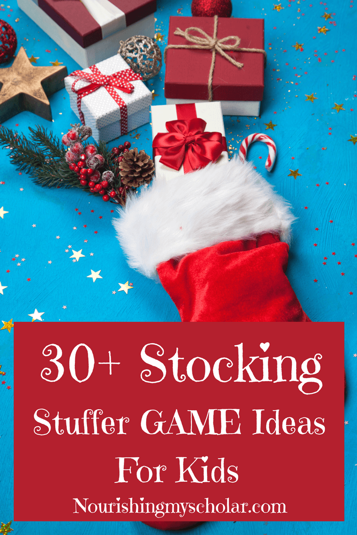 30+ Stocking Stuffer Game Ideas For Kids: Games have become a must in our family. They are the perfect way to connect, bond and have fun together. This year I'm stuffing the kid's stockings with games! #homeschooling #ihsnet #Christmas #games #giftideas