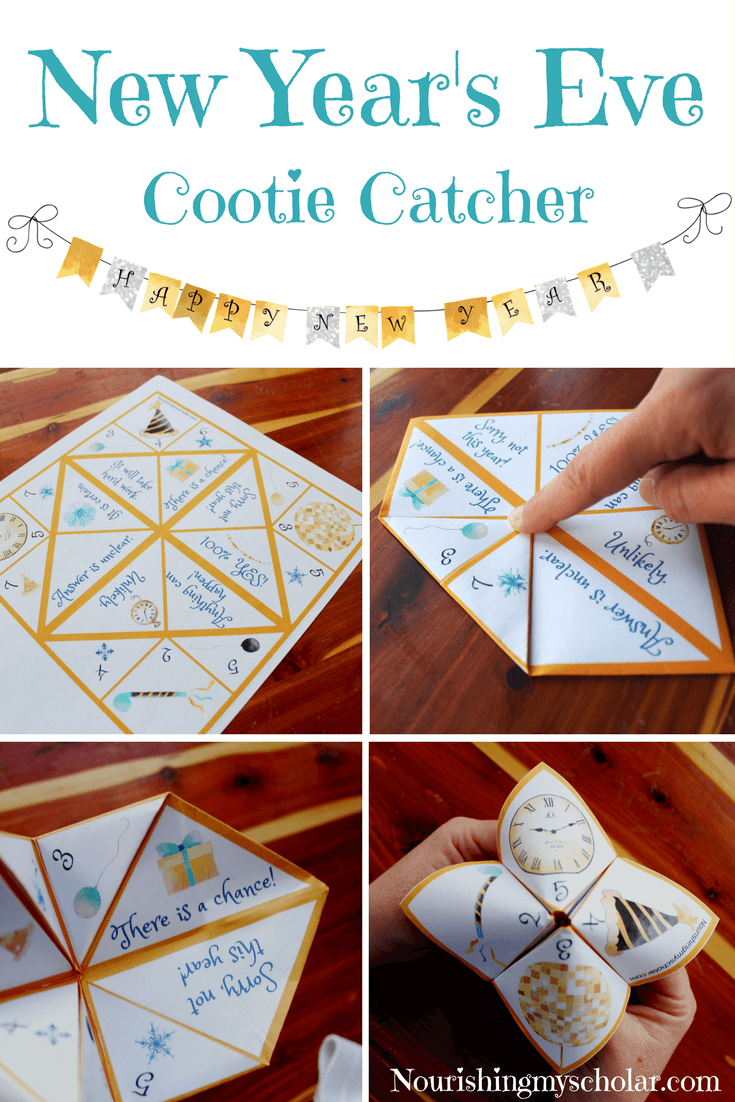 New Year's Eve Cootie Catcher