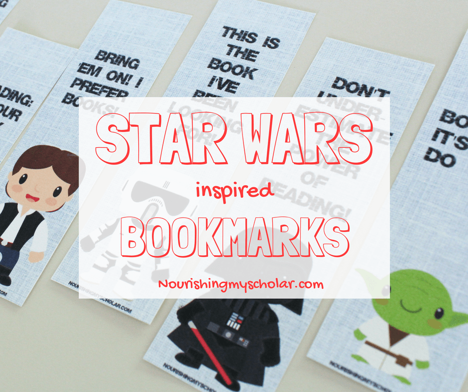 picture regarding Star Wars Bookmarks Printable named Star Wars Impressed Bookmarks ~ Nourishing My University student