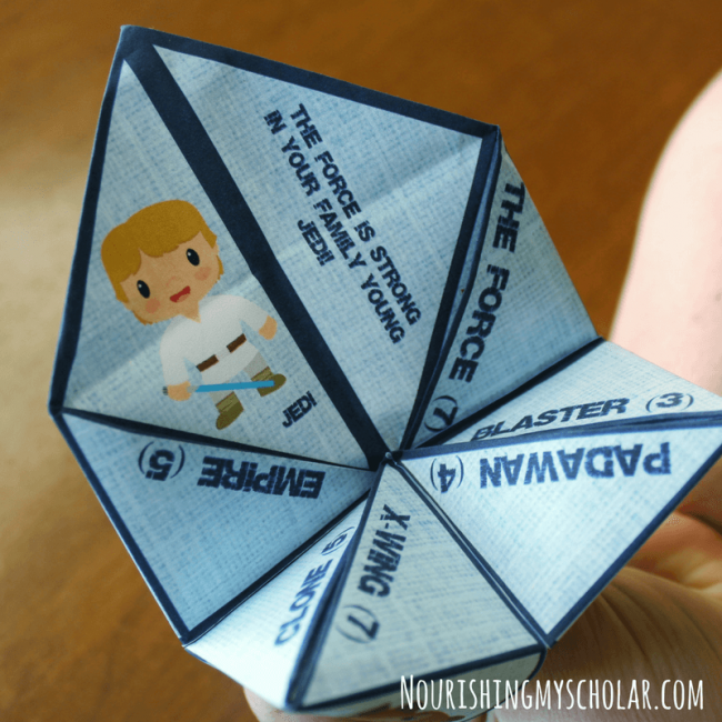 Star Wars Inspired Cootie Catcher Game