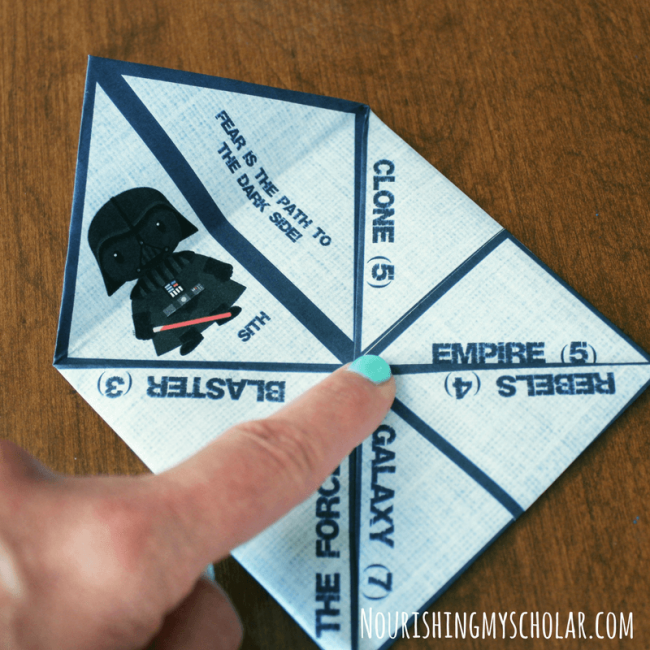Star Wars Inspired Cootie Catcher