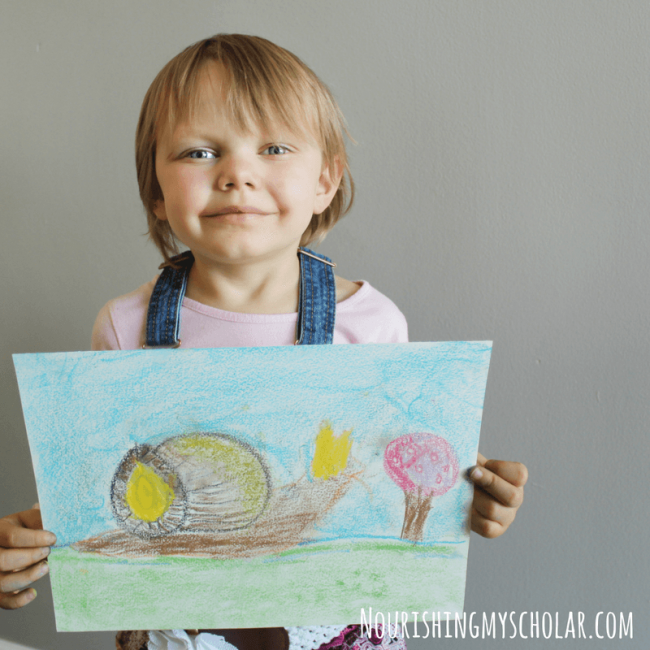 Chalk Pastel Art Perfect for Forest Nature Study