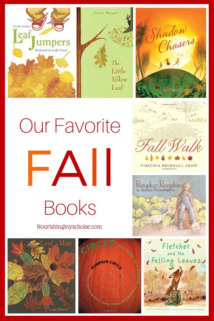 Our Favorite Fall Books: Changes in the seasons results in changes in the seasonal books on our shelves. I hope you enjoy some of our fall favorites! #fallbooks #kidlit #autumnbooks