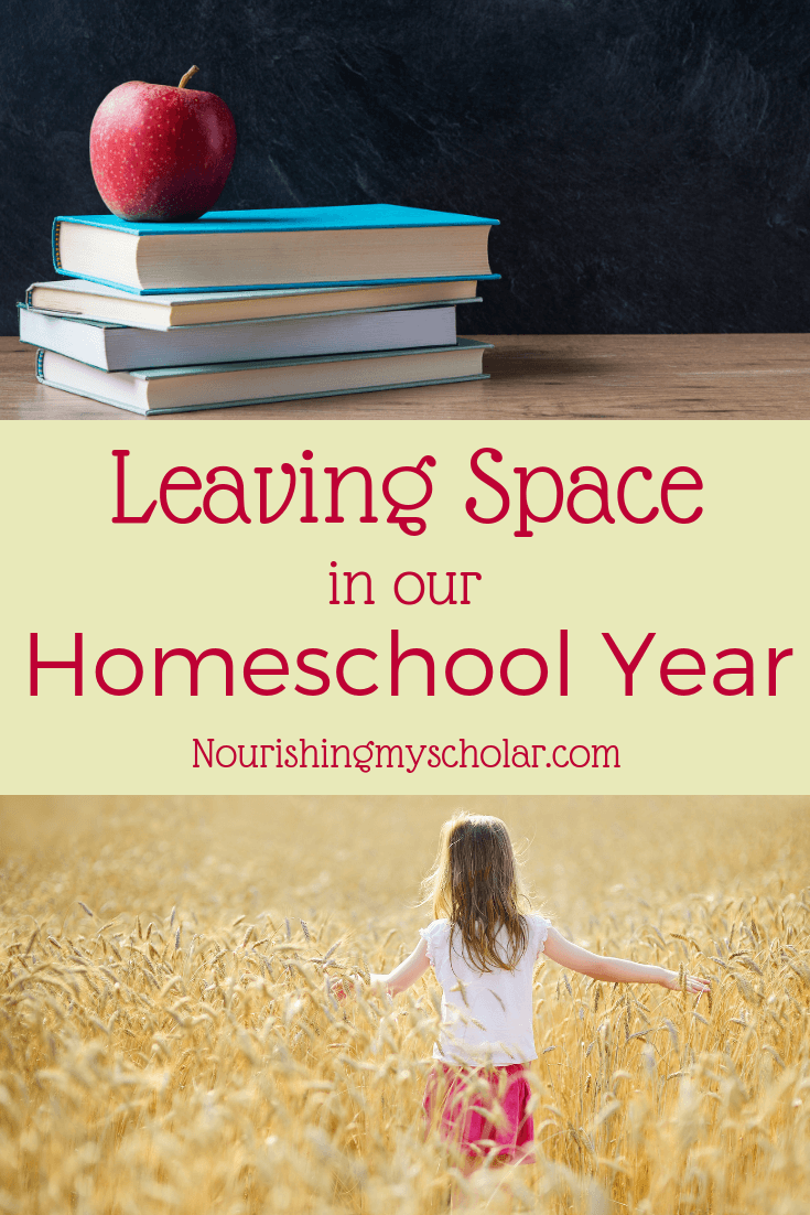Leaving Space in Our Homeschool Year