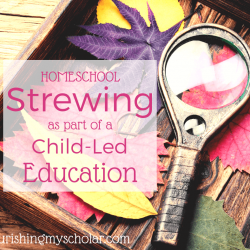 Homeschool Strewing as Part of a Child-Led Education