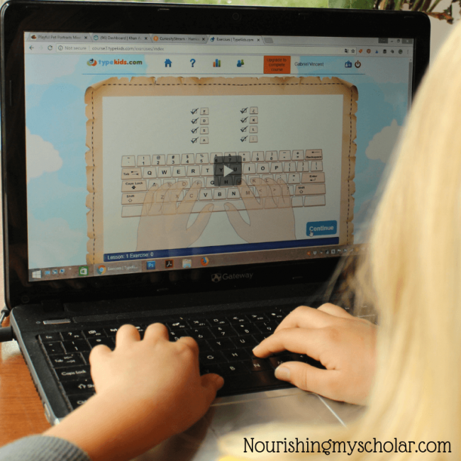TypeKids : A Fun Online Touch Typing Program for Kids