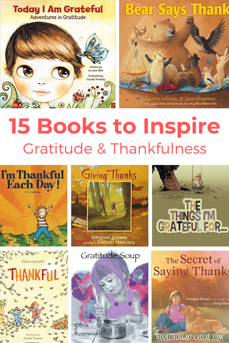 12 Books to Inspire Gratitude and Thankfulness: Looking for ways to inspire gratitude in your kids? I'm sharing tips plus thankfulness and gratitude books to help you. #Thanksgiving #gratitude #homeschool