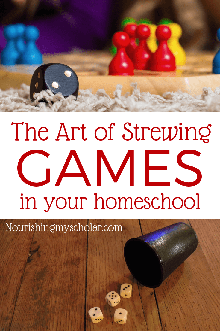 The Art of Strewing Games in Your Homeschool
