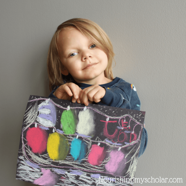 Festive Christmas Chalk Pastel Art Lessons For Kids