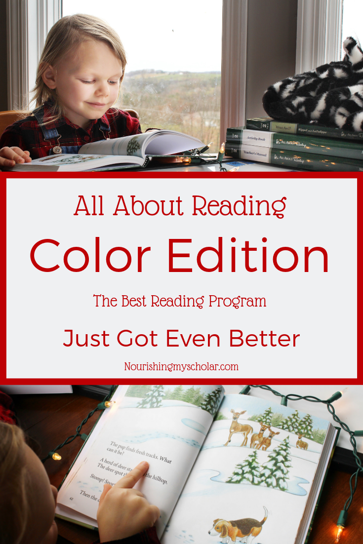All About Reading Color Edition: All About Reading has been a part of our family for over two years, folks. It has staying power! It is an all-around solid reading curriculum that offers a multi-sensory approach. #reading #literacy #homeschooling #children #curriculum #allaboutreading #allaboutreadingreview #homeschool #multisensory #readingactivities