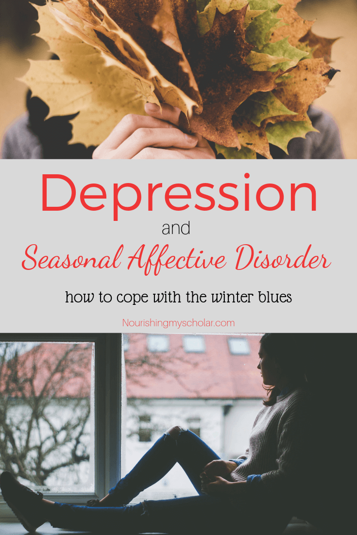 Depression and Seasonal Affective Disorder: Does Seasonal Affective Disorder affect your mood? Do you struggle with depression? Here are 12 Self-Care tips to help you cope with the Winter Blues! #depression #selfcare #SAD #seasonalaffectivedisorder #winterblues #homeschoolmom #homeschoolmomanddepression #homeschoolingwithdepression #homeschoolhelp