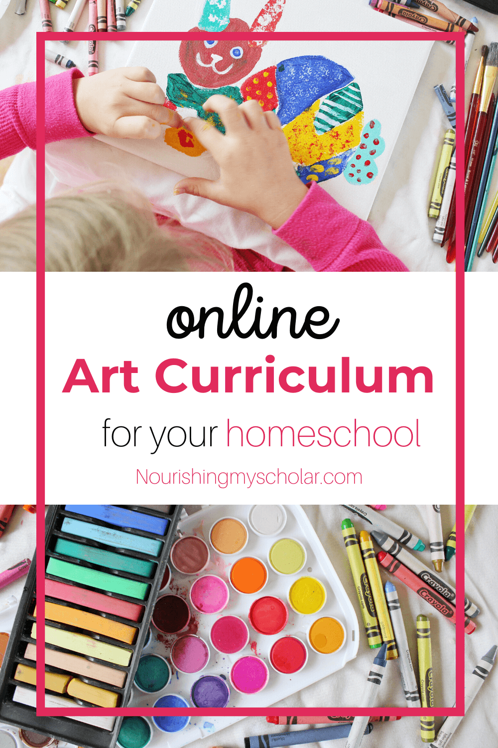 Online Art Curriculum for Your Homeschool: An Online Art Curriculum is a fabulous way to add the beauty of art class to your homeschool. This award-winning program will help your child learn the fundamentals of art in short easy lessons. #homeschool #homeschooling #homeschoolart #art #artcurriculum #onlineart #onlineartcurriculum #elementaryart