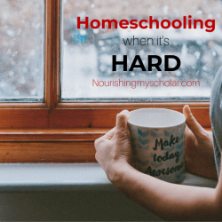 Homeschooling when it's Hard