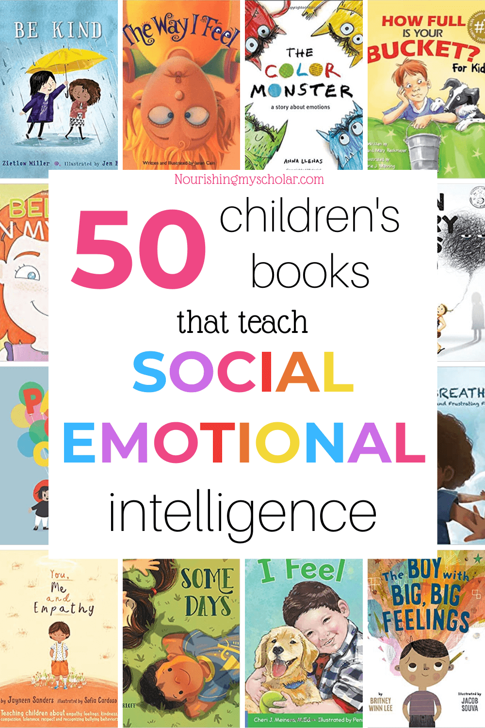 50 Children's Books that Teach Social-Emotional Intelligence: Social-emotional intelligence is key to teaching our children the skills they need to manage all sorts of different situations. But how can we teach such an important skill? When in doubt my go-to is always books! #kidlit #feelingsbooks #childrensbooks #kidsbooks #socialemotionalintelligence #ihsnet #homeschool