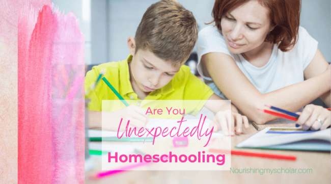 Are You Unexpectedly Homeschooling: Parents all over the internet that are suddenly finding themselves unexpectedly homeschooling! #homeschool #homeschooling #unexpectedlyhomeschooling