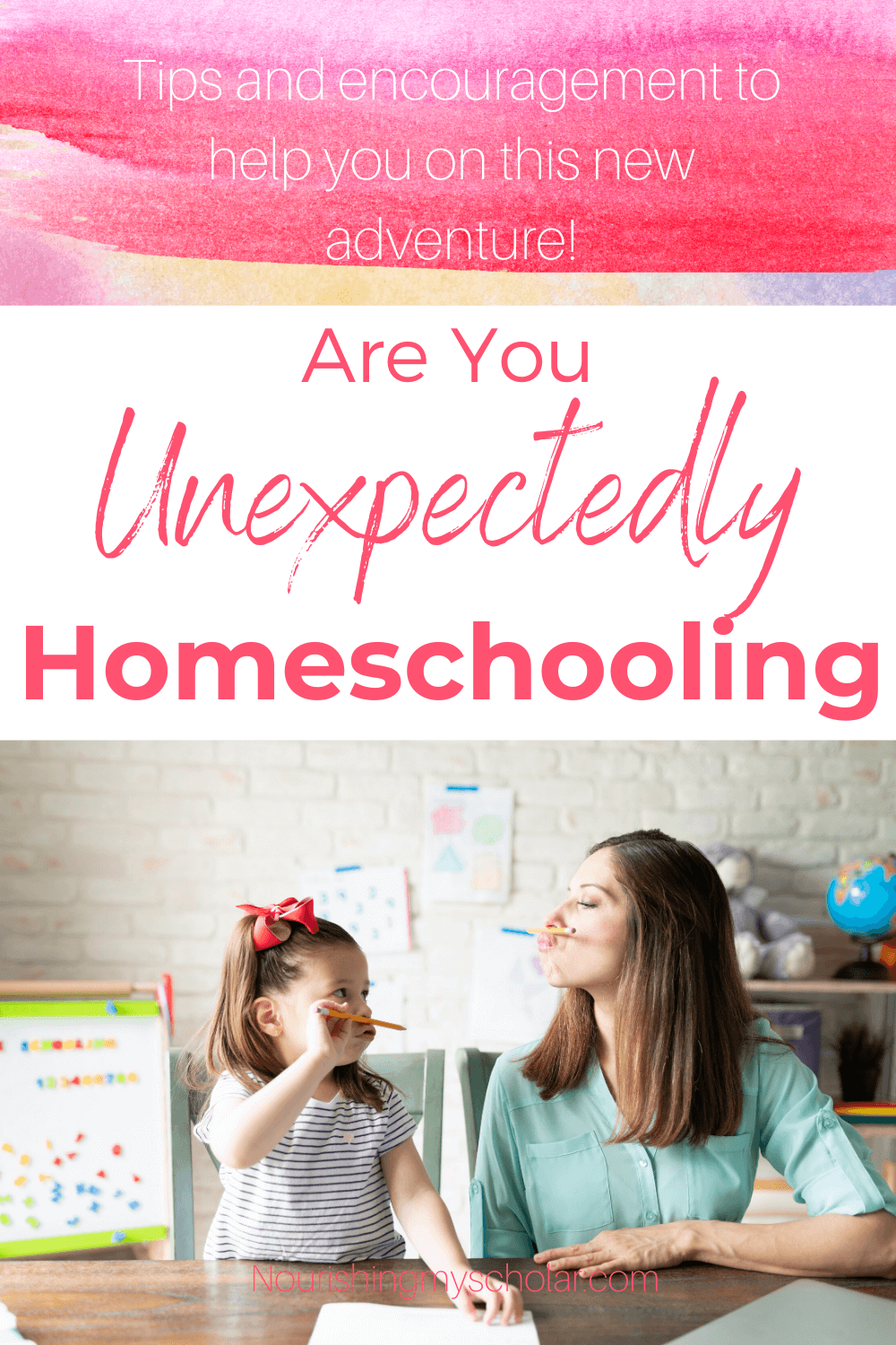 Are You Unexpectedly Homeschooling: Parents all over the internet are suddenly finding themselves unexpectedly homeschooling! Read on for my best tips! #homeschool #homeschooling #unexpectedlyhomeschooling