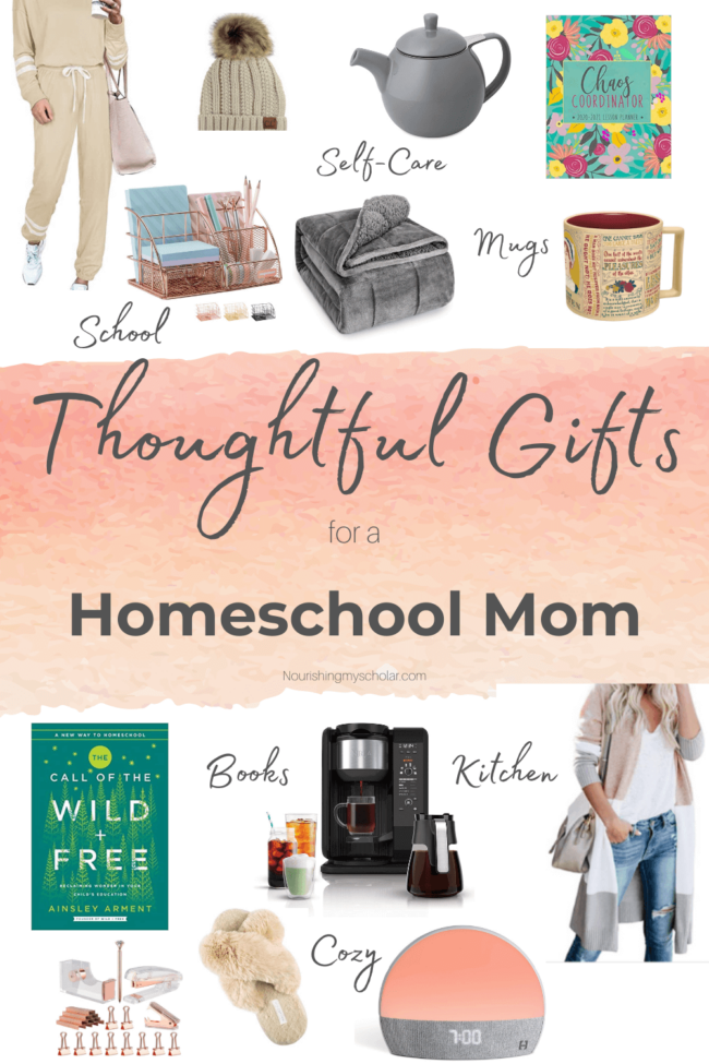 Thoughtful Gifts for a Homeschool Mom: These thoughtful gifts for a homeschool mom are sure to make her feel extra special this holiday season! #homeschool #mom #homeschoolgifts #momgift #Christmas #Christmasgifts #mothersday #mombirthday