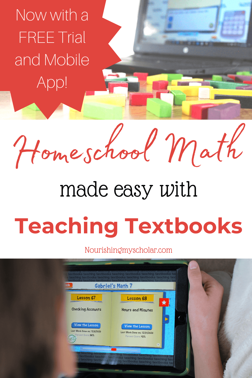 Homeschool Math made Easy with Teaching Textbooks: Homeschool math is now easier than ever with Teaching Textbooks! No longer do homeschool parents need to fear math or worry that they don't know enough to teach their child. Teaching Textbooks does it all for you in an engaging and effective way. Leaving you free to focus on other subjects! Here is a look at how we are using this math resource in our homeschool. #homeschoolmath #teachingtextbooks #homeschoolmathcurriculum #mathresource