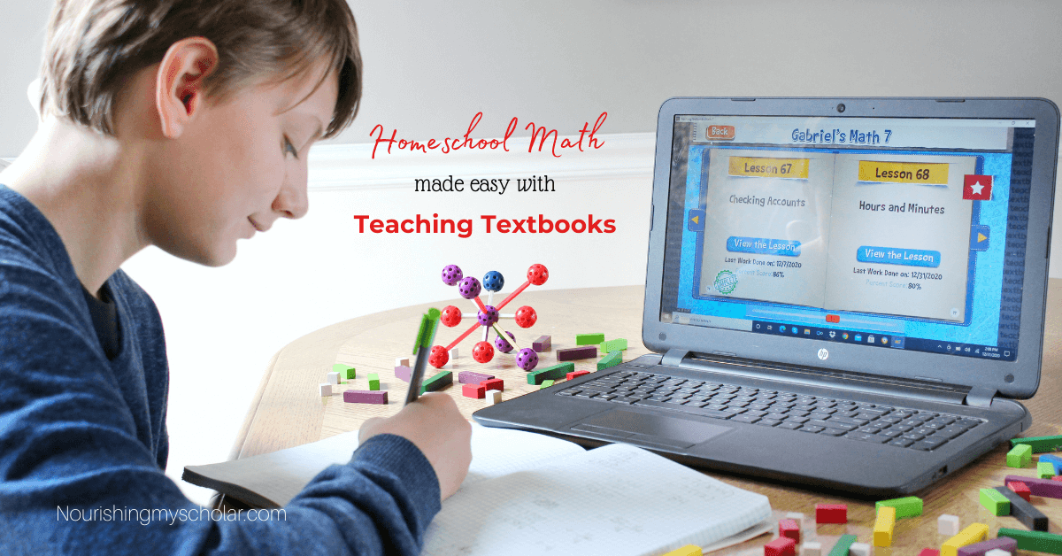 Homeschool Math is Easy with Teaching Textbooks