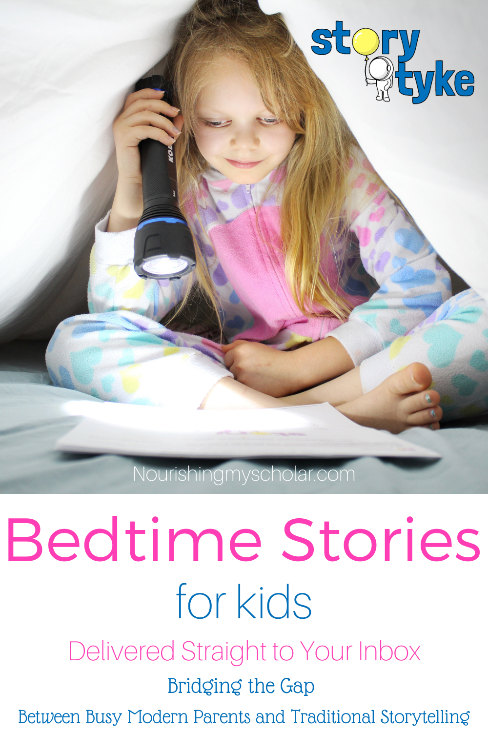Bedtime Stories for Kids: Create that special moment of quiet just before sleep with these quality bedtime stories for kids that take just 5 minutes to read! Your children will love these delightful short stories that are delivered straight to your inbox by 6 pm each school night! Plus, they're FREE! #bedtimestories #bedtimestoriesforkids #shortbedtimestories #childrensbedtimestories #5minutebedtimestories #shortbedtimestories #freebedtimestories #StoryTyke #momlife # reading #bedtime #stories