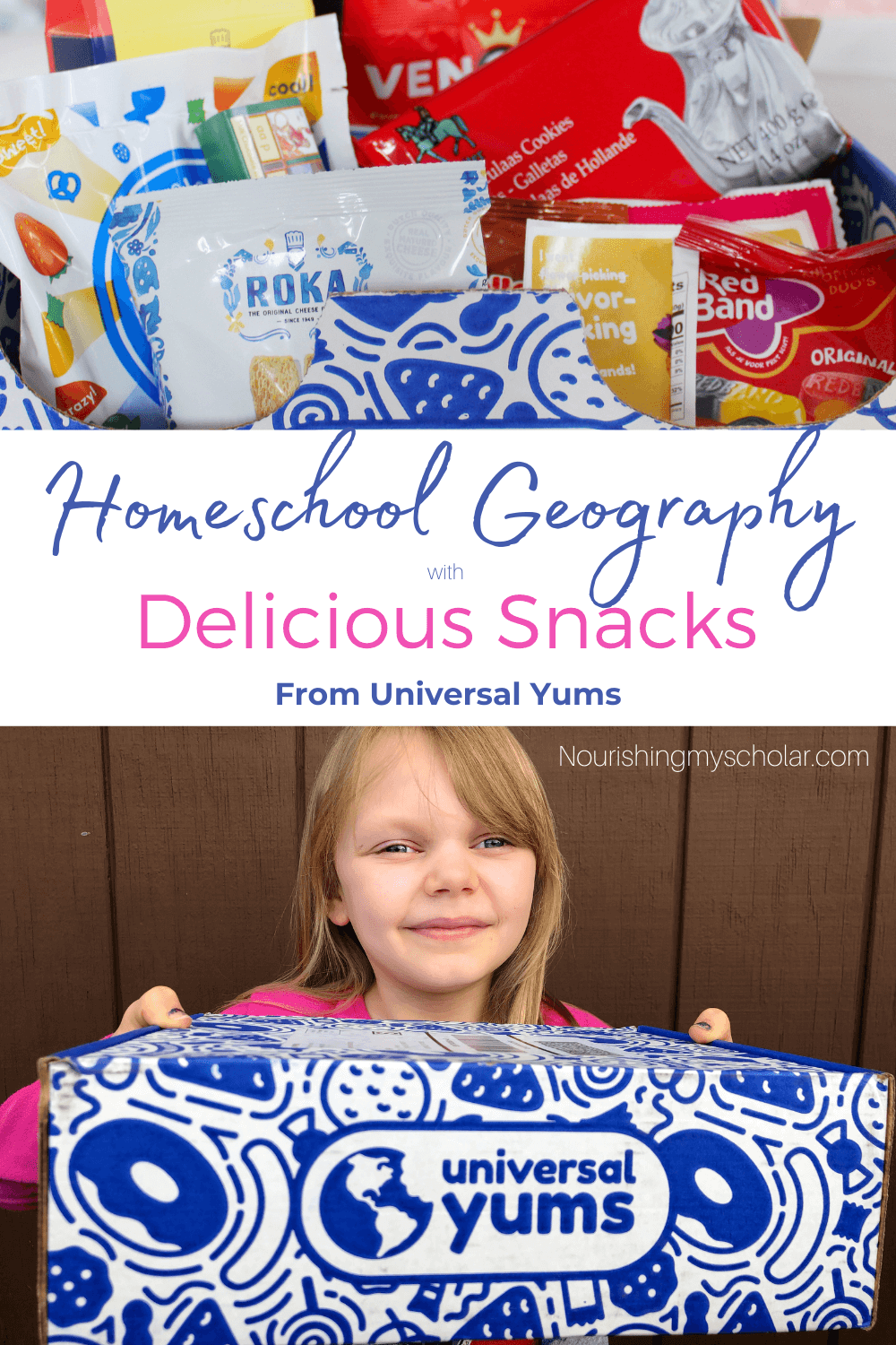 Homeschool Geography with Delicious Snacks: Are you ready to make your homeschool geography delicious with snacks from countries around the world? Today I'd like to share with you how we took our geography from bland and boring to vibrant and delectable! #geography #geographyactivities #homeschoolgeography #homeschoolgeographywithdelicioussnacks #subscriptionbox #subscriptionboxforkids #universalyums