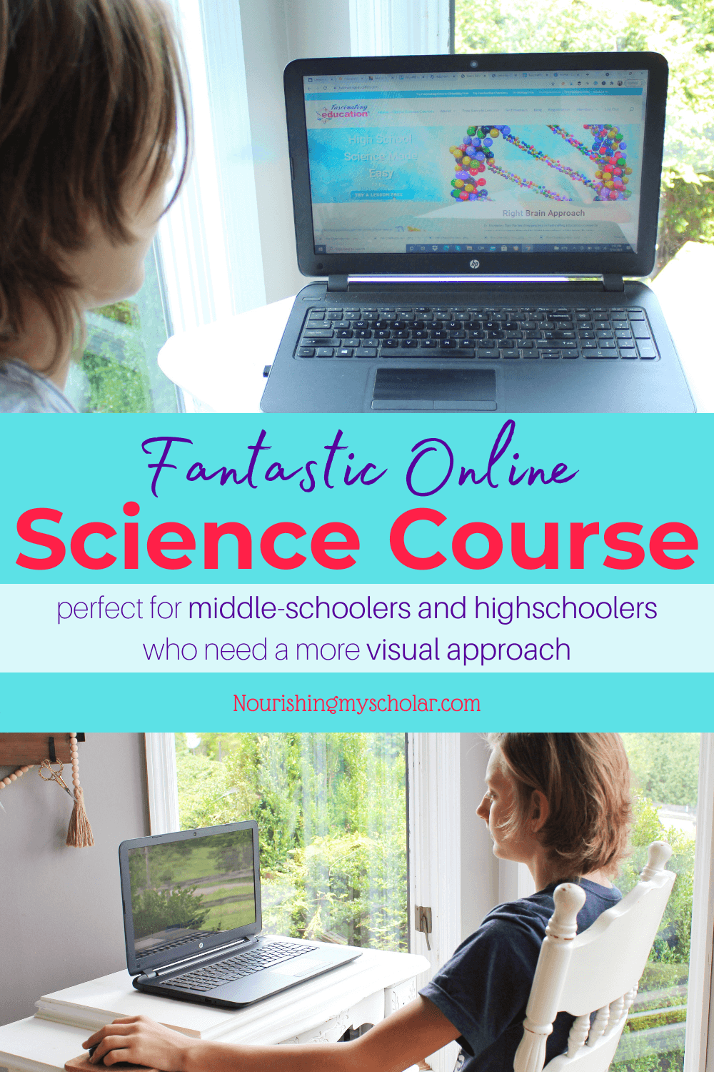 Fantastic Online Science Course: Are you looking for a flexible, self-paced online science course for your middle-schooler or high schooler? Maybe your teen needs more of a visual approach to science. Science doesn't have to mean a dry textbook! Discover a different approach to science courses for your homeschool. #scienceonline #FascinatingEducation #onlinesciencecourse #introductiontoChemistry #middleschoolChemistry #fantasticonlinesciencecourse