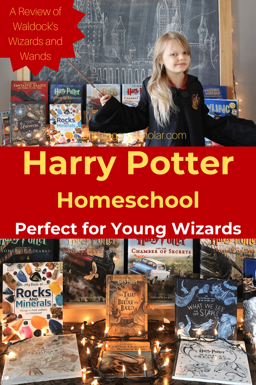 Harry Potter Homeschool Perfect for Young Wizards: Do your children love Harry Potter? Or maybe they love all things magical and mythical! If yes, then this Harry Potter homeschool is for you! #WaldocksWizardsandWands #HarryPotter #HarryPotterhomeschool #Wizardschool #WizardsandWands #homeschool #HarryPottercurriculum #HarryPotterunitstudy